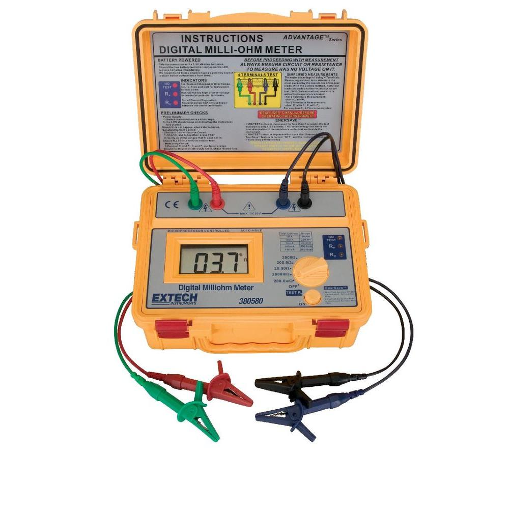 380580 Battery Powered Milliohm Meter with NIST