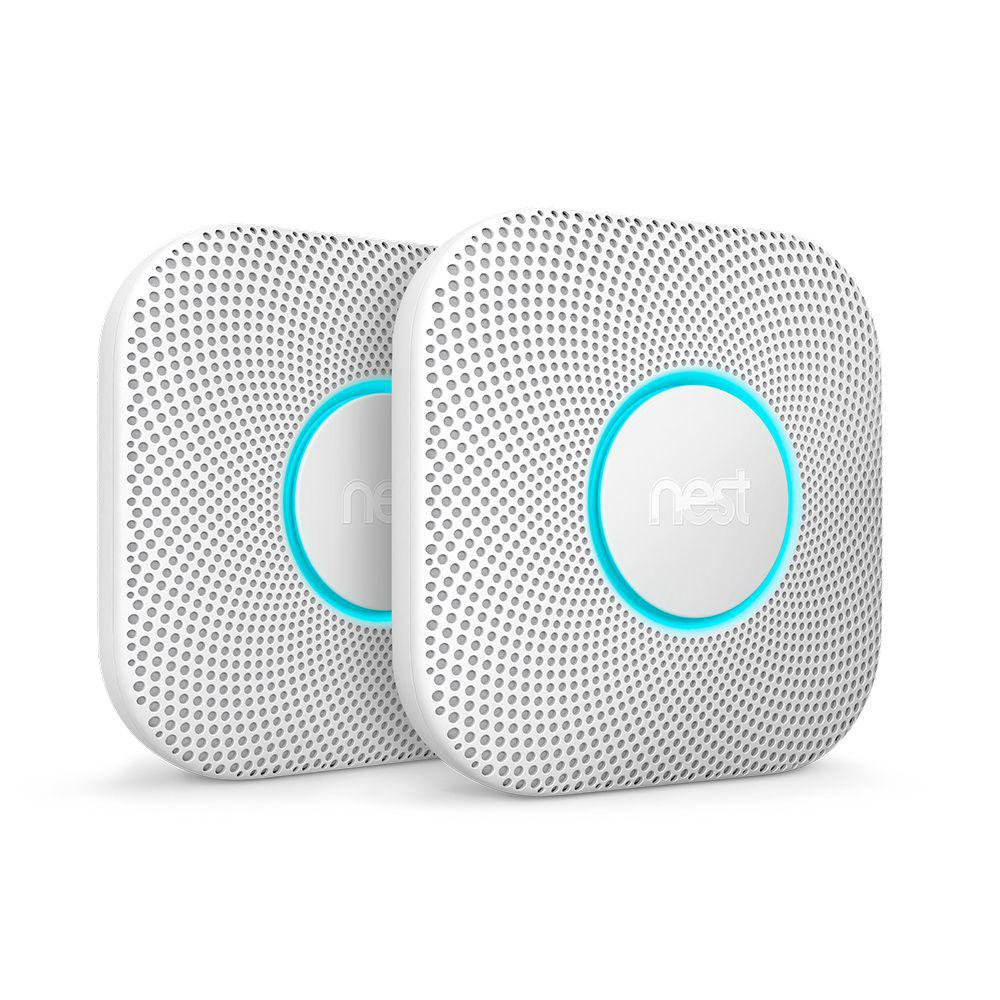 Nest Protect Wired Smoke and Carbon Monoxide Detector (2-Pack)